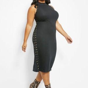 Ashley Stewart studded Mock Neck Dress